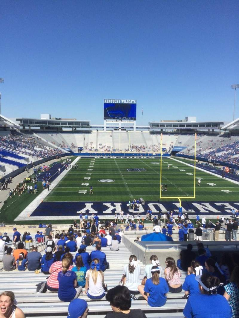 Seating view for Kroger Field Section 35 Row 43 Seat 8
