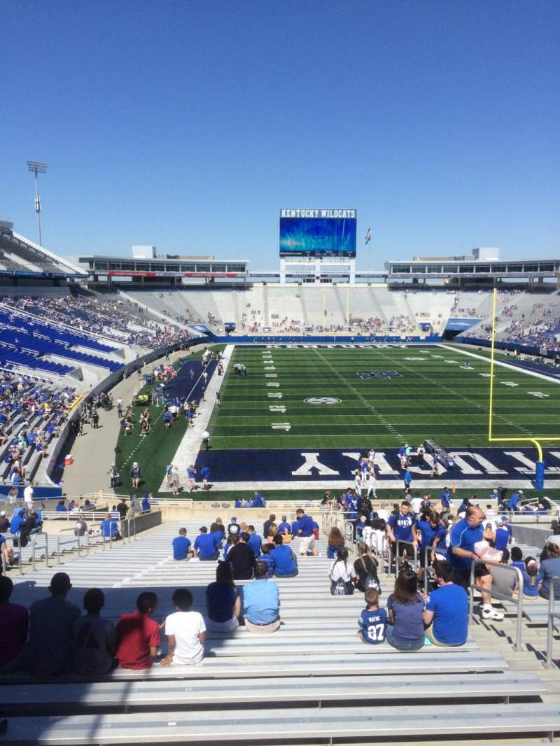 Seating view for Kroger Field Section 34 Row 43 Seat 13