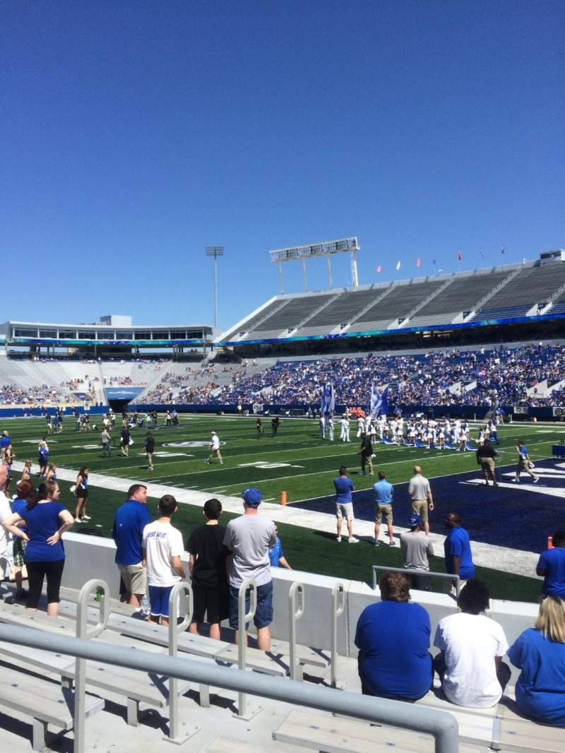 Seating view for Commonwealth Stadium Section 31 Row 9 Seat 1