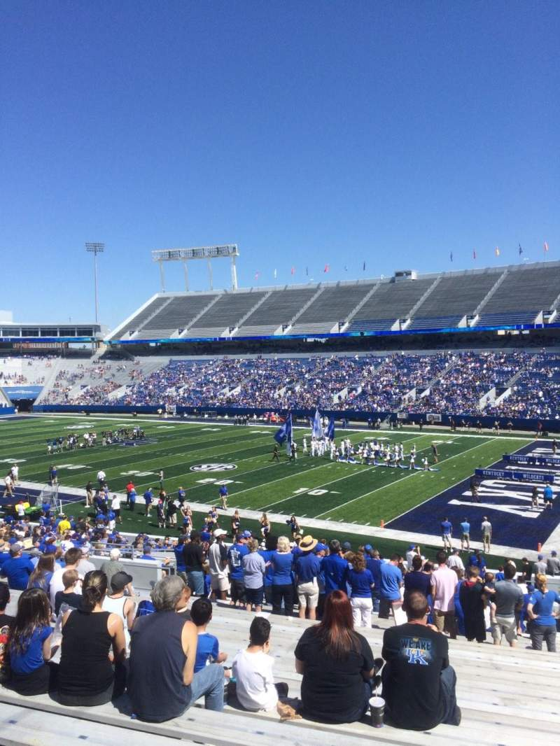Seating view for Kroger Field Section 30 Row 36 Seat 21
