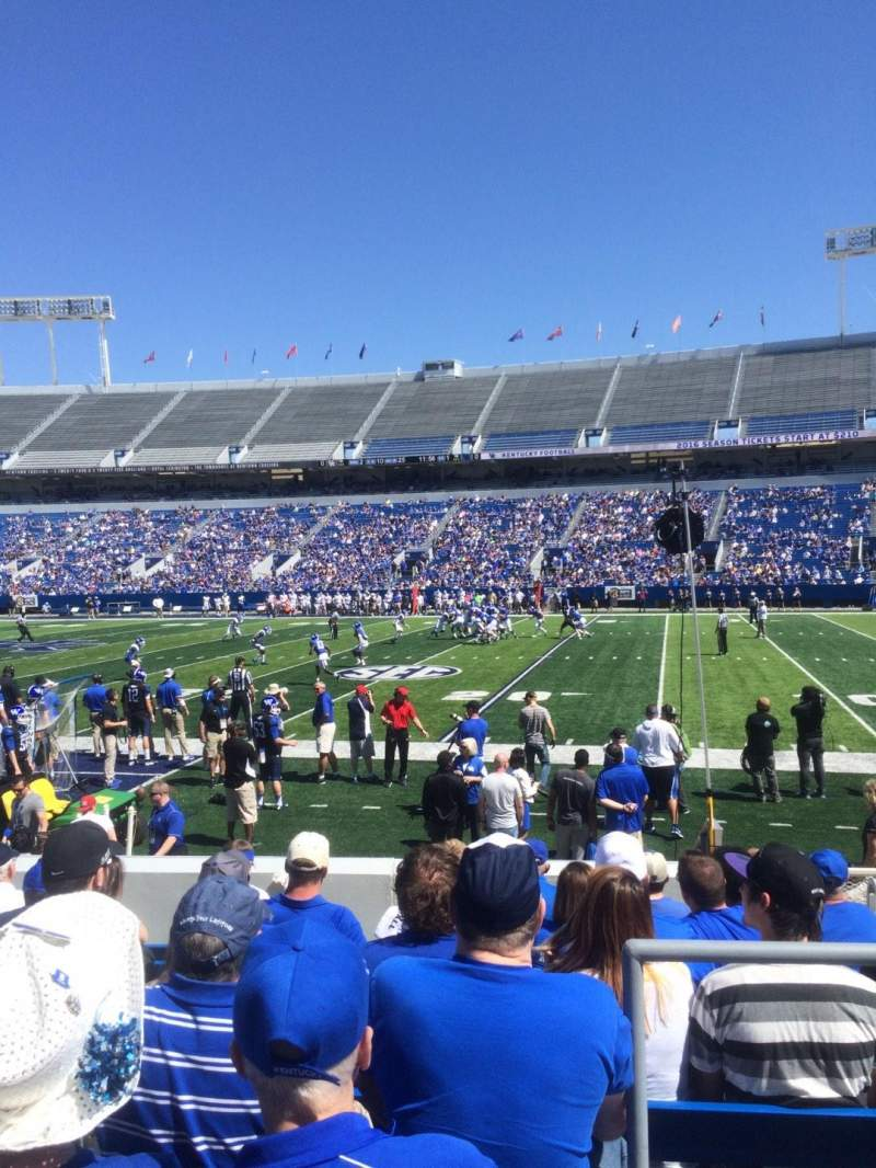 Seating view for Commonwealth Stadium Section 28 Row 10 Seat 15