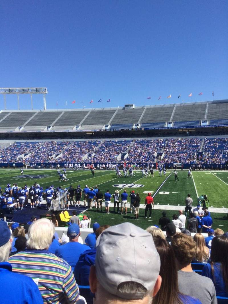Seating view for Kroger Field Section 28 Row 13 Seat 11