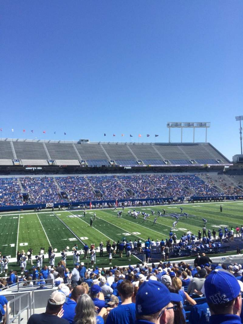 Seating view for Commonwealth Stadium Section 24 Row 33 Seat 1