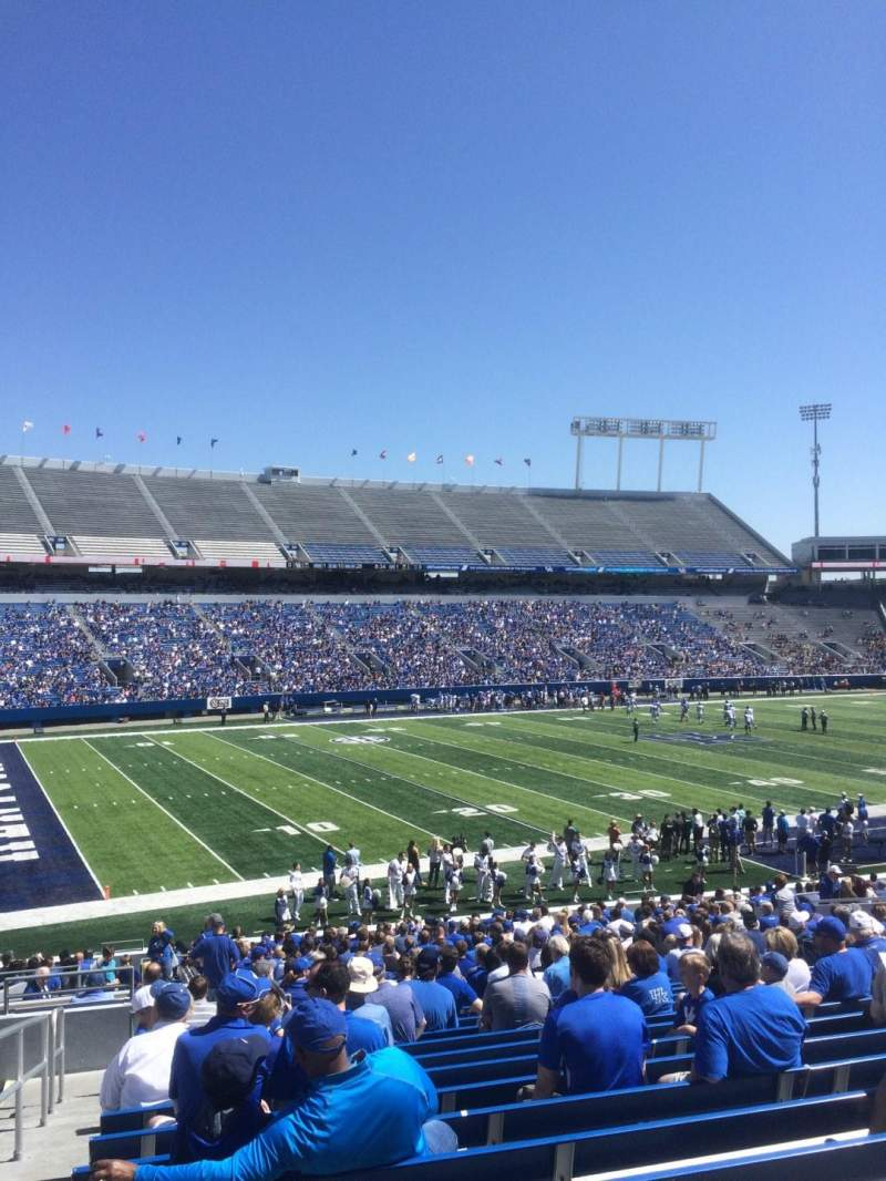 Seating view for Commonwealth Stadium Section 23 Row 33 Seat 1