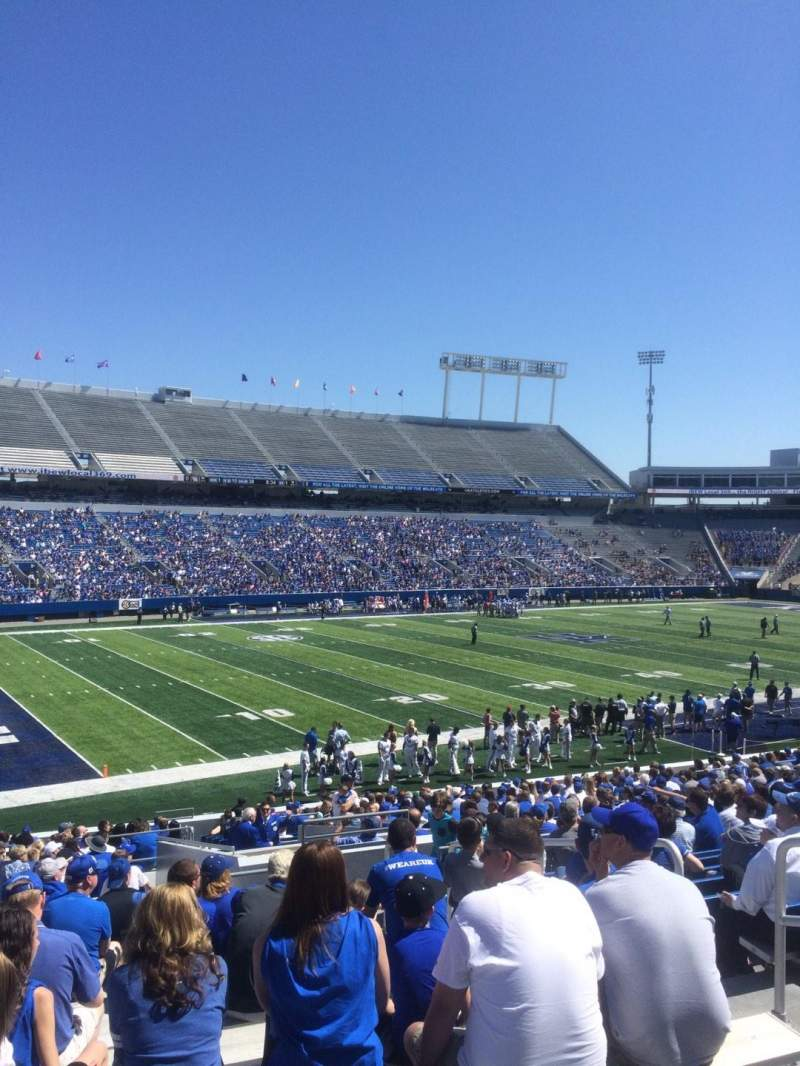 Seating view for Commonwealth Stadium Section 22 Row 31 Seat 21