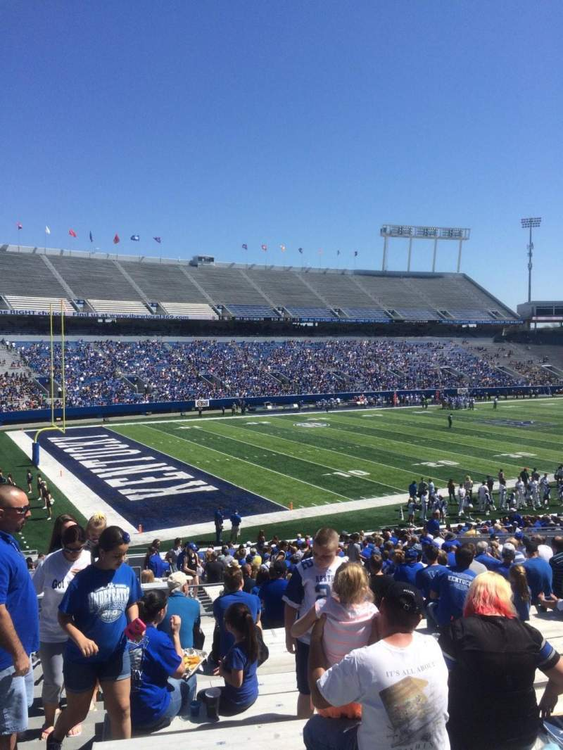 Seating view for Kroger Field Section 22 Row 34 Seat 1