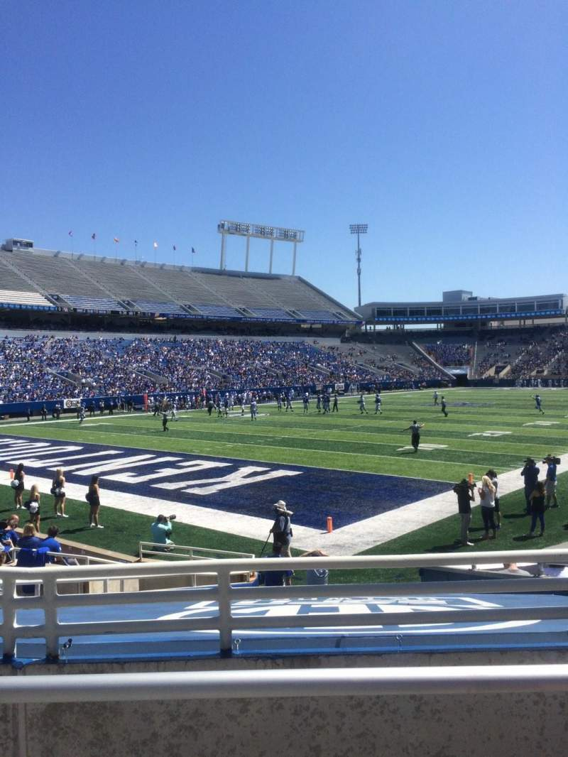 Seating view for Kroger Field Section 20 Row 11 Seat 10