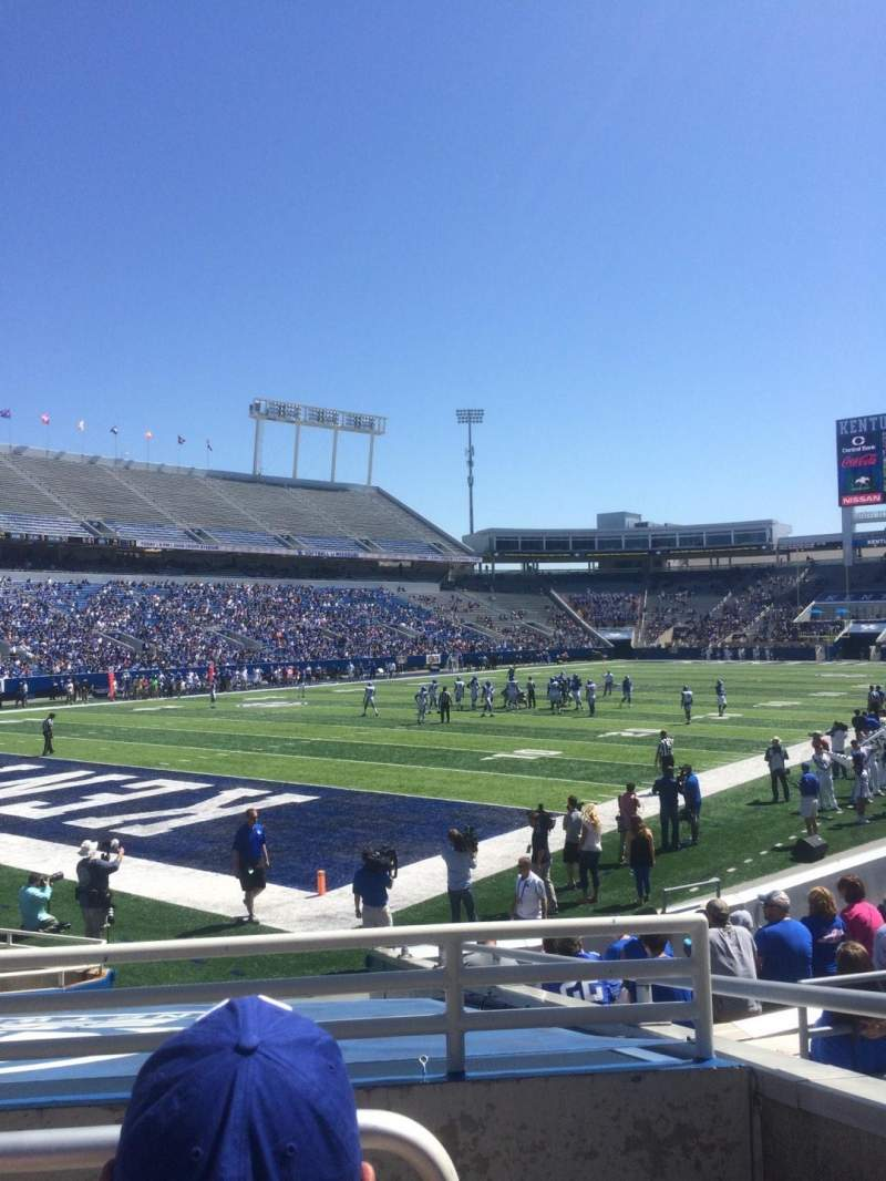 Seating view for Commonwealth Stadium Section 20 Row 11 Seat 14