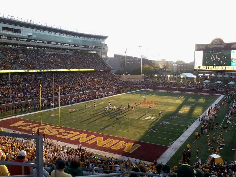 Seating view for TCF Bank Stadium Section 221 Row 8 Seat 11