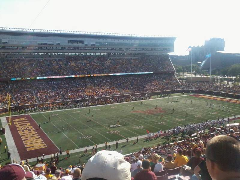 Seating view for TCF Bank Stadium Section 215 Row 21 Seat 17