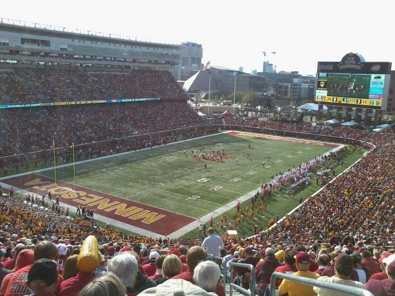 Seating view for TCF Bank Stadium Section 220 Row 30 Seat 1