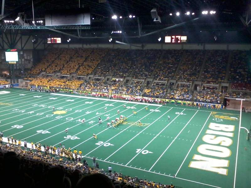 Seating view for Fargodome Section 30 Row kk Seat 7
