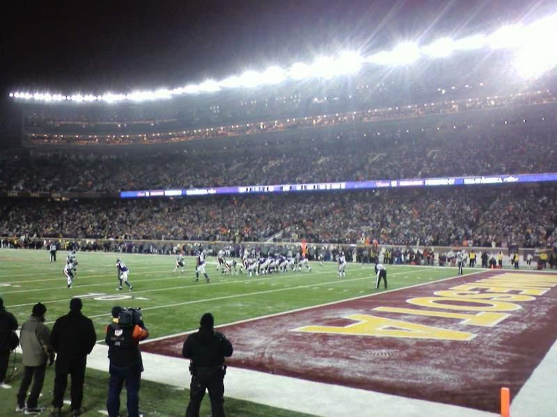 TCF Bank Stadium, section: 101, row: 1, seat: 5