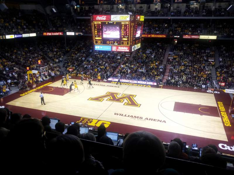 Seating view for Williams Arena Section 218 Row 6 Seat 7