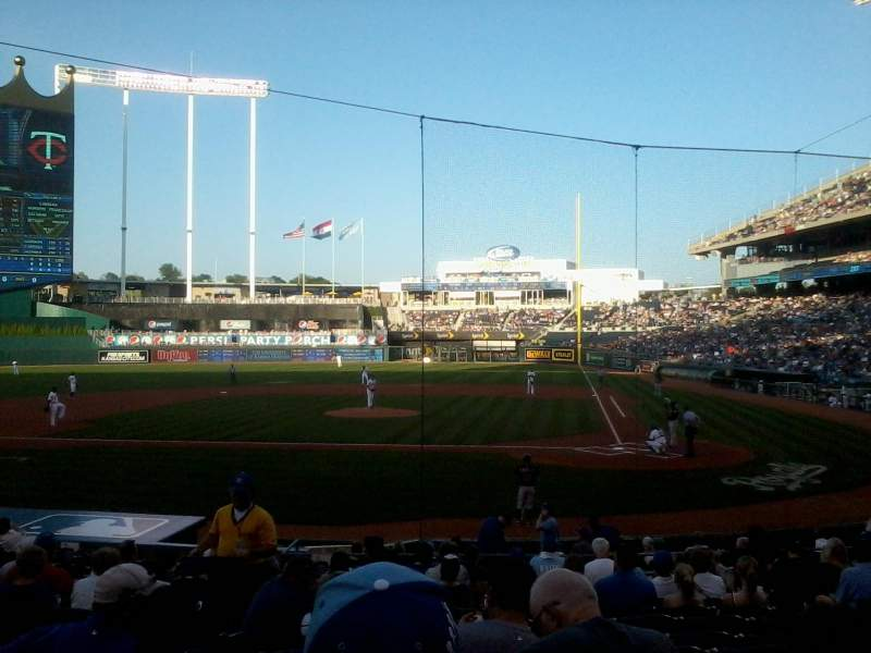 Seating view for Kauffman Stadium Section 124 Row R Seat 3