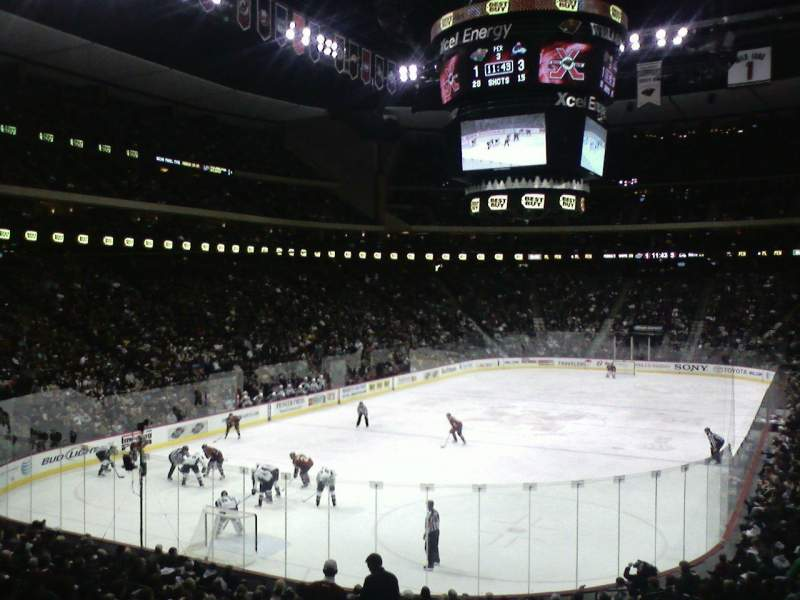 Seating view for Xcel Energy Center Section 108 Row 21 Seat 16