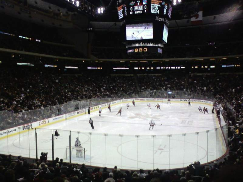 Seating view for Xcel Energy Center Section 122 Row 20 Seat 5