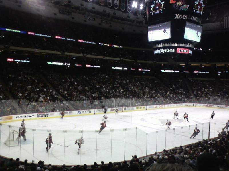 Seating view for Xcel Energy Center Section 120 Row 19 Seat 7