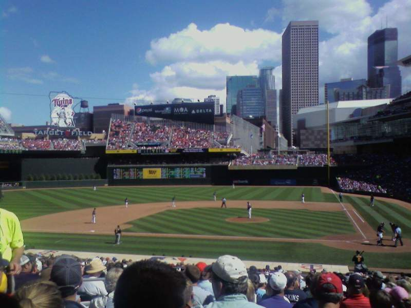 Seating view for Target Field Section 118 Row 14 Seat 14