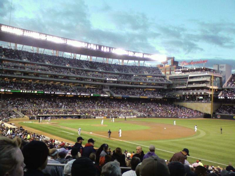 Seating view for Target Field Section 103 Row 34 Seat 21