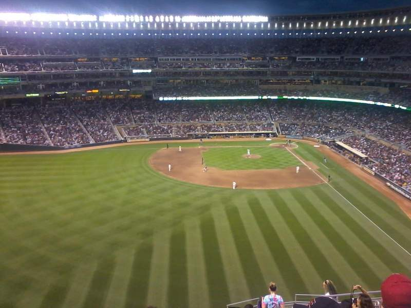 Seating view for Target Field Section 331 Row 15 Seat 8