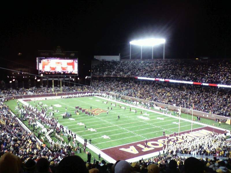 Seating view for TCF Bank Stadium Section 231 Row 27 Seat 4