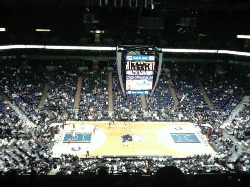 Seating view for Target Center Section 232 Row S Seat 2