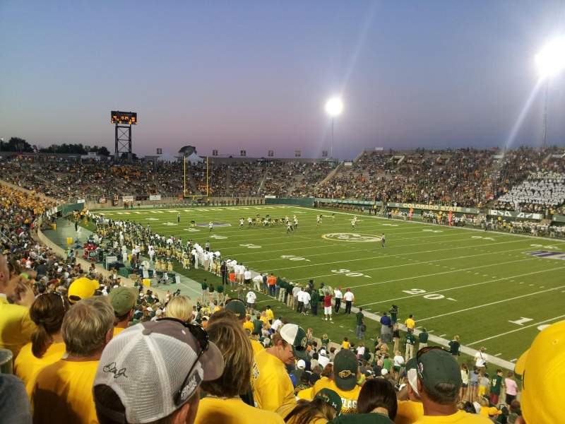 Seating view for Hughes Stadium Section A Row 24 Seat 14