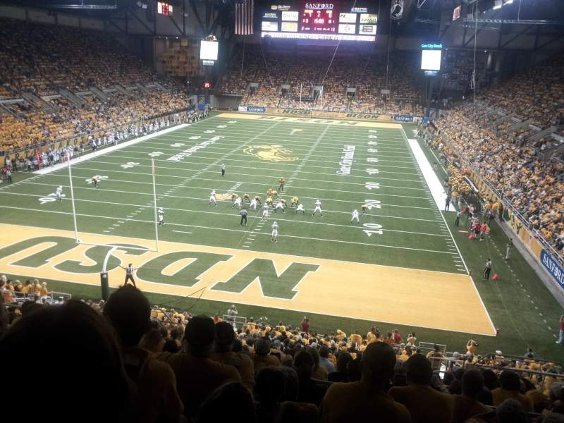 Seating view for Fargodome Section 8 Row AA