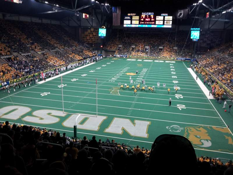 Seating view for Fargodome Section 8 Row R