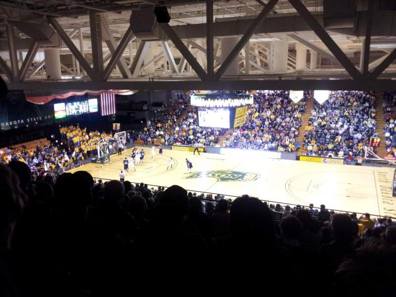 Seating view for Bison Sports Arena Section C Row 17 Seat 9