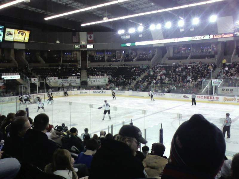 Seating view for Scheels Arena Section 101 Row k Seat 5