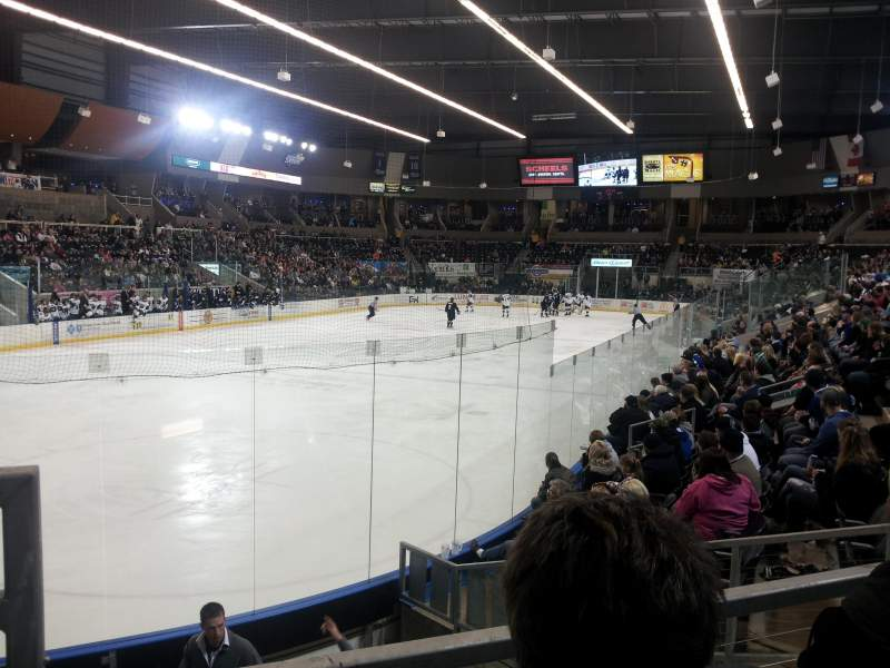 Seating view for Scheels Arena Section 111 Row H Seat 23