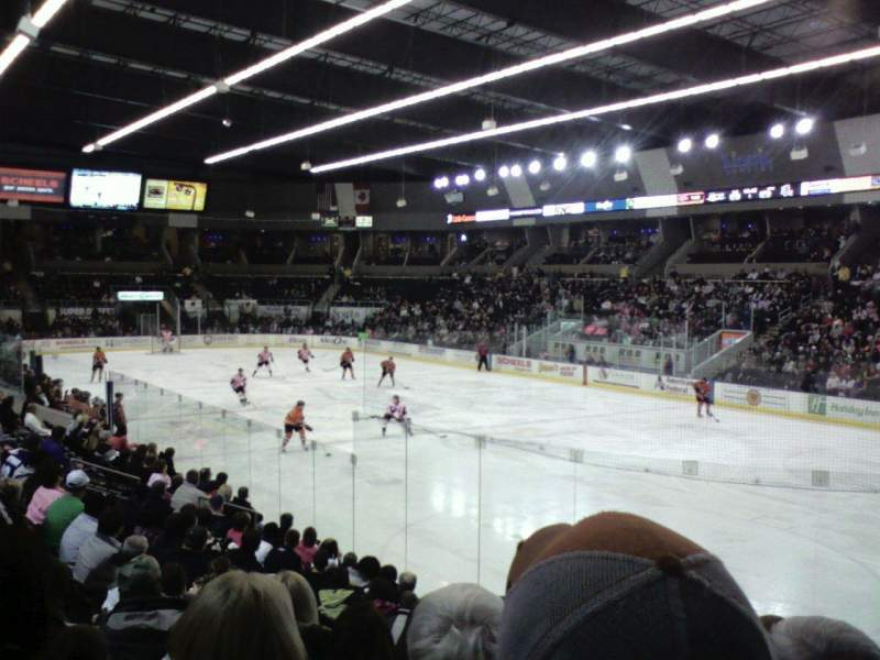 Seating view for Scheels Arena Section 115 Row L Seat 4