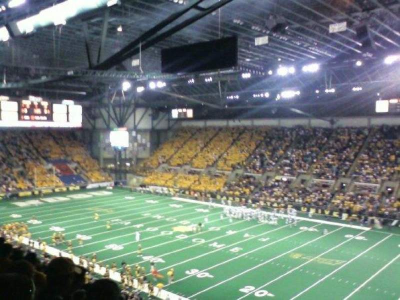 Seating view for Fargodome Section 30 Row GG Seat 10