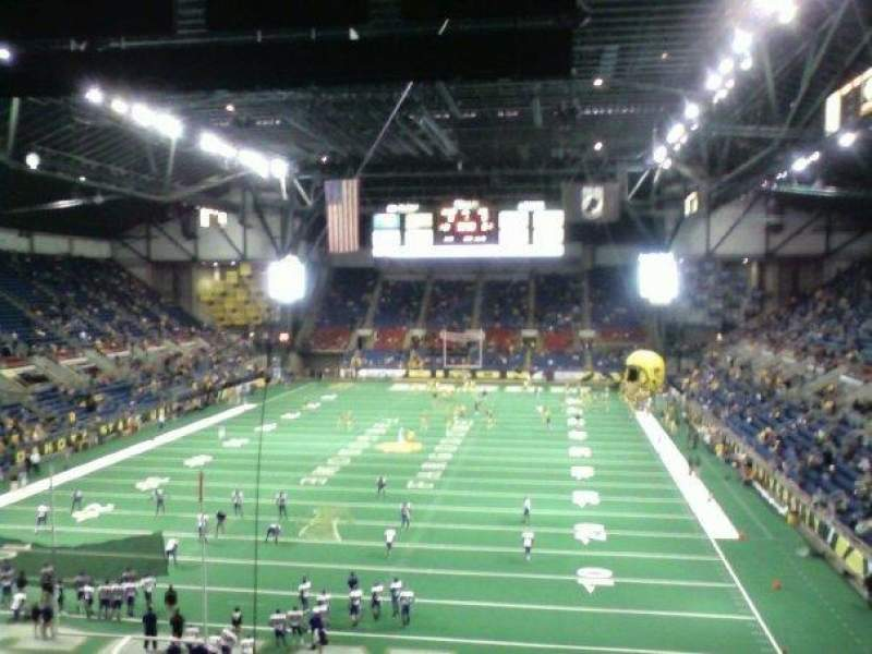Seating view for Fargodome Section 8 Row AA Seat 7
