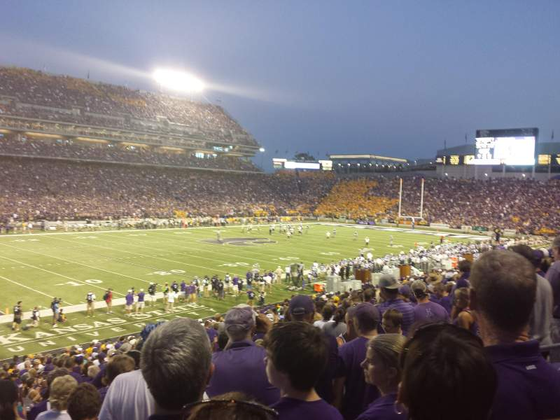 Seating view for Bill Snyder Family Stadium Section 1 Row 29 Seat 7