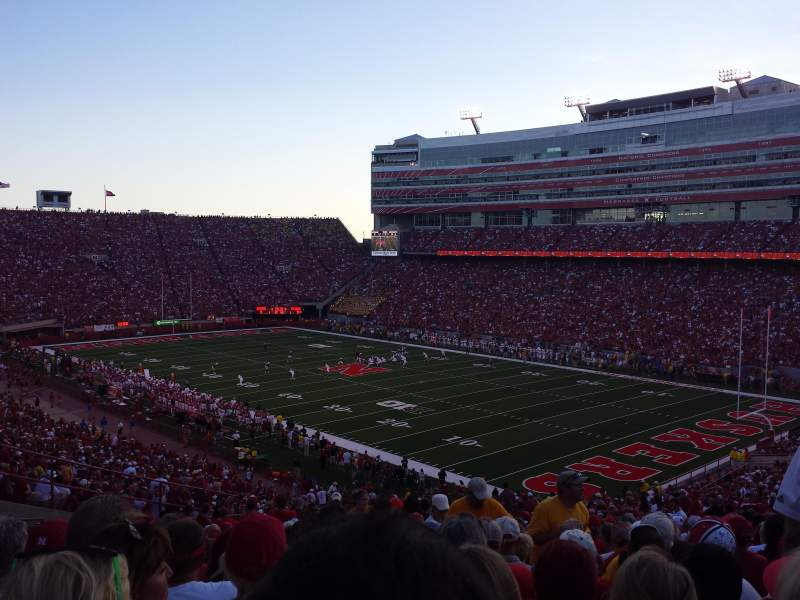 Seating view for Memorial Stadium Section 41 Row 66 Seat 7