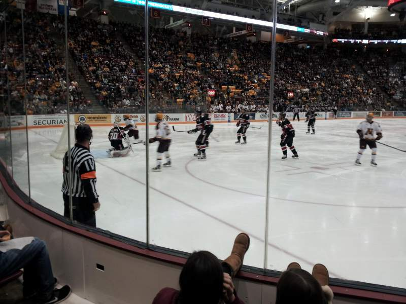 Seating view for 3M Arena at Mariucci Section 23 Row 3 Seat 5