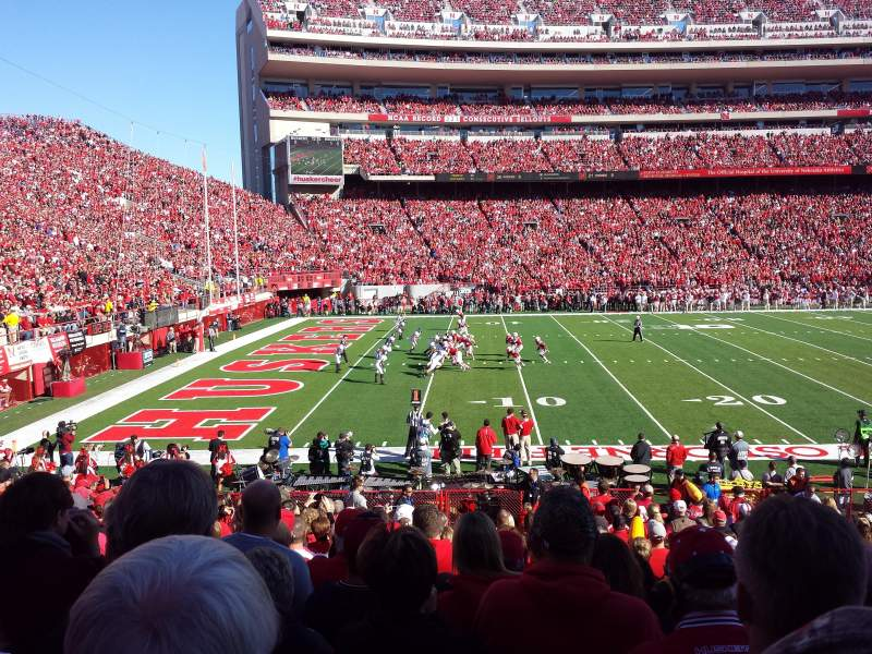 Seating view for Memorial Stadium Section 30 Row 16 Seat 9