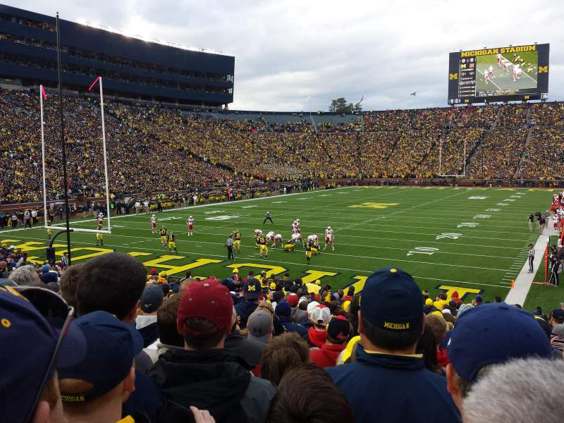 Seating view for Michigan Stadium Section 9 Row 26 Seat 1