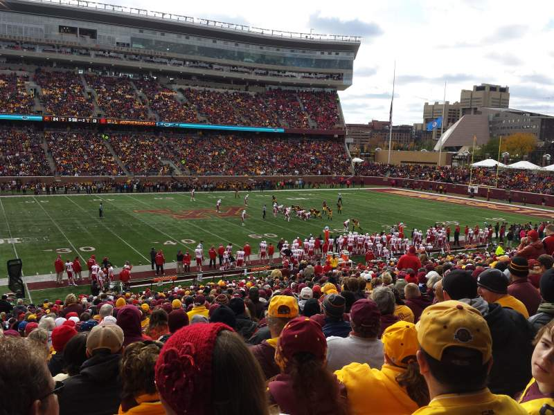 Seating view for TCF Bank Stadium Section 112 Row 31 Seat 24