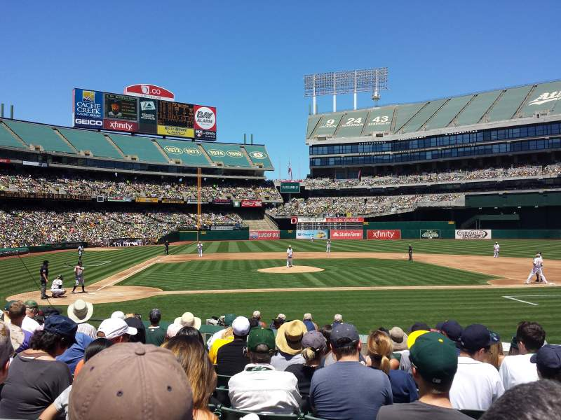 Seating view for Oakland Alameda Coliseum Section MVP Box 114 Row 14 Seat 10