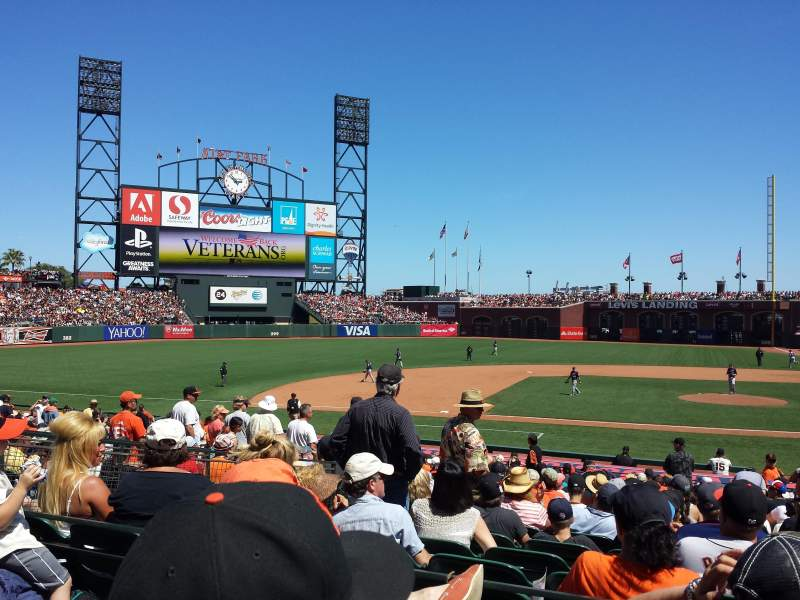 Seating view for AT&T Park Section Premium Lower Box 122 Row 25 Seat 16