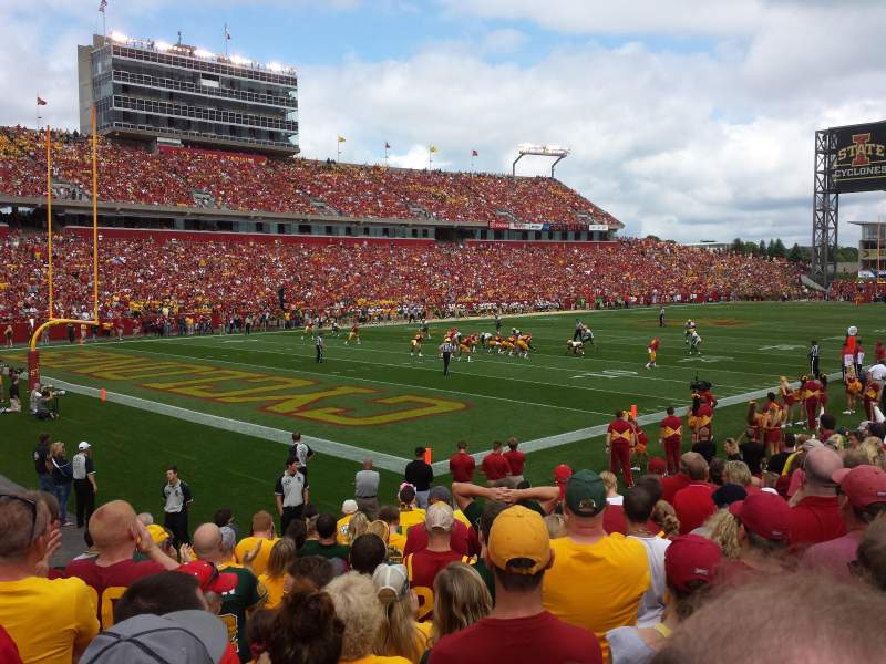Seating view for Jack Trice Stadium Section 17 Row 13 Seat 2