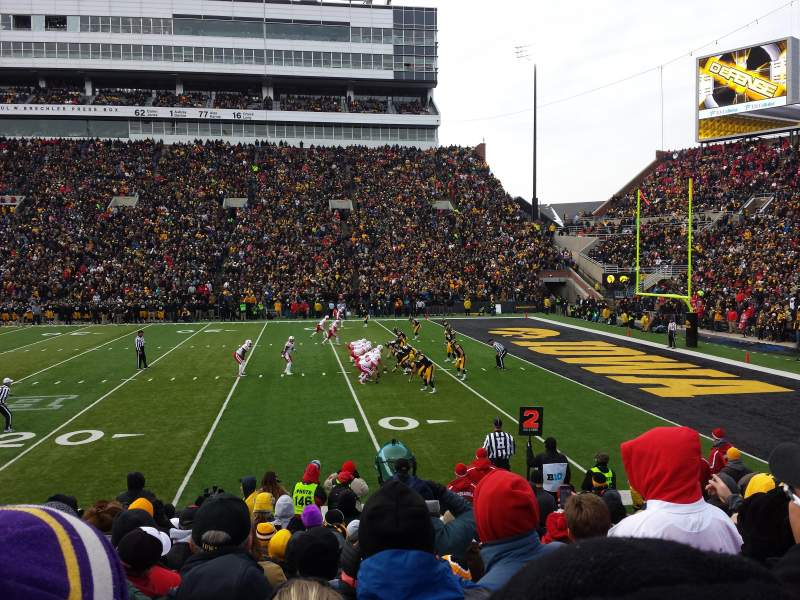 Seating view for Kinnick Stadium Section 103 Row 14 Seat 14