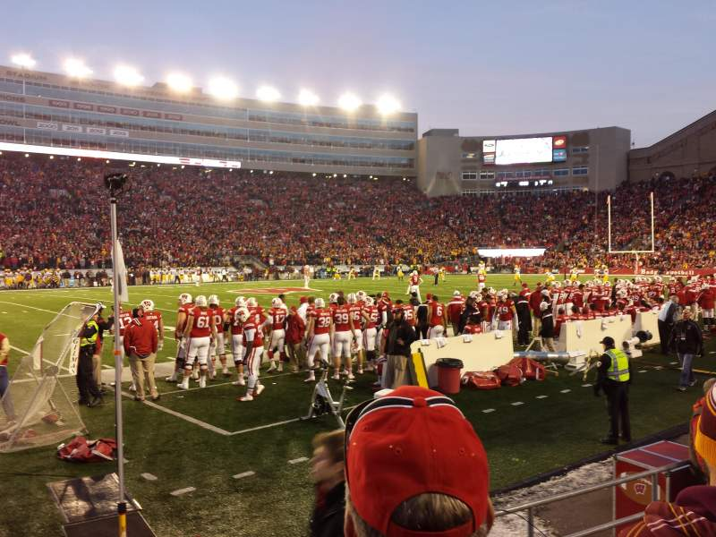 Seating view for Camp Randall Stadium Section g Row 7 Seat 15
