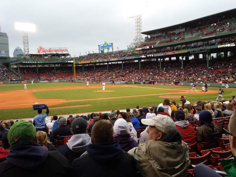 Seating view for Fenway Park Section Loge Box 150 Row EE Seat 3