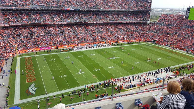 Seating view for Sports Authority Field at Mile High Section 512 Row 4 Seat 10