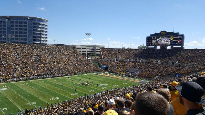 Seating view for Kinnick Stadium Section 129 Row 64 Seat 20